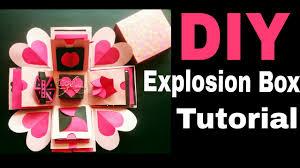 explosion box tutorial diy valentine s anniversary gift idea