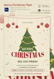 Free Holiday Templates For Flyers Flyer Word 30 Christmas Psd