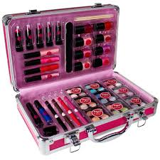 vanity case box beauty cosmetic make up travel train storage chit chat 64 piece