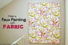fabric wall art tutorial