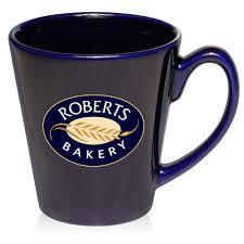 custom  oz glossy ceramic latte coffee mugs    discountmugs