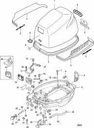 mercury marine 9 9 hp 4 stroke 209 cc cowling parts engine section