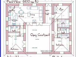 fabulous u shaped floor plan 25 ranch plans house with pool in middle of 1