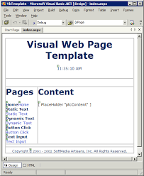 Microsoft Web Page Templates Creating A Visual Web Page Template Web Programming