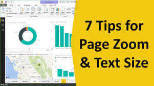 Power Pro Size Chart How To Change The Page Zoom And Text Size In Power Bi Desktop