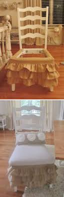 burlap furniture. Burlap Furniture. Ruffled Chair Skirt Made Out Of Valances Furniture