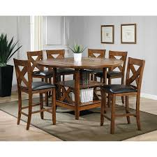 counter height dining room table sets inspirational lodge 7 piece counter height dining set