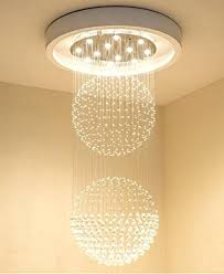 led spiral ceiling light large crystal hanging raindrop chandelier decor wall sconce