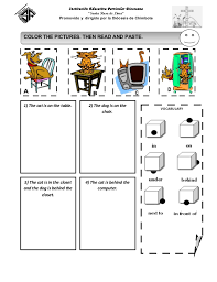 Prepositions Of Place Worksheet Worksheets for all | Download and ...