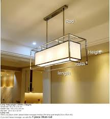 Langwerpig Rechthoek Lange Roestvrij Staal Kroonluchter Licht Lamp