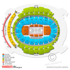 madison square garden seating chart