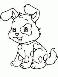 Small Picture Coloring Pages Printable Dogs Coloring Pages