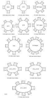 size of round table for 8 table size for 6 8 person dining table size round