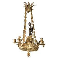 19th century french empire chandelier for
