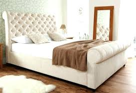 upholstered leather sleigh bed. Fine Leather Practical Leather Sleigh Bed King Lovable White With Tufted Upholstered  Size Full Lova And Upholstered Leather Sleigh Bed