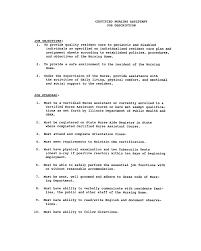 Nurse Aide Resume Nurse Aide Resume Examples Nursing Home Rn Cna List Of Duties 9
