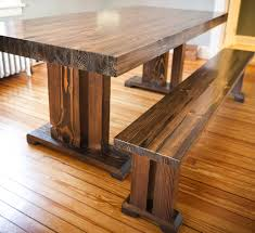 Home Made Kitchen Table Reclaimed Wood Kitchen Table With Bench Dining Table Solid Wood