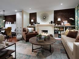 ... Living Room, Brown Contemporary Living Room With Rustic Coffee Table Purple  Brown Cream Living Room ...