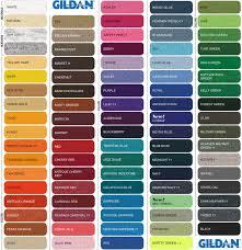 Gildan Color Chart 5000 Gildan Classic Fit Adult T Shirt Ultra Cotton