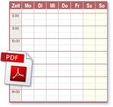 Leere tabellen zum ausdrucken kostenlos. Zeitplan Pdf Files Ideal Zum Drucken
