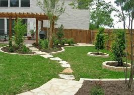 home backyard designs. terrific green square rustic grass backyard landscaping design ideas ornamnetal stone floor and trees home designs