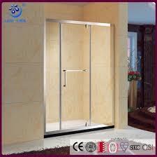 framed straight pivot seamless bathroom shower door enclosure stainless steel hardwares kd5563