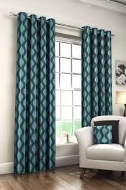 Teal Patterned Curtains Classy Charming Astonishing Teal Curtains Teal Polyester Jacquard Striped