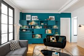 Built In Shelving as a Living Room Accent Wall
