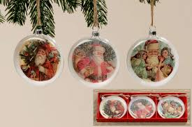 Nostalgische Weihnachts Hängerchristbaumschmuck Santa 3tlg Set Condecoro Wohnideen U Geschenkideen