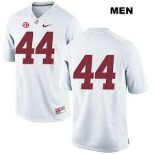 reid name. avery reid alabama crimson tide nike no. 44 stitched mens white authentic college football jersey - no name