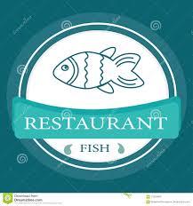 Restaurant Name And Logo Vector Logo Banner For Advertising Restaurant Name Blue Stock Vector