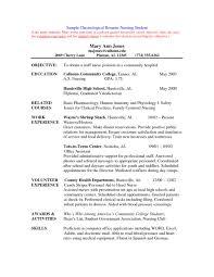 Sample Of Nursing Resume Templates Unbelievable Graduate Nurse And
