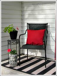 rug under rocking chair. cheap spring porch with a diy painted rug | laughingabi.com under rocking chair i