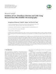 pdf isolating cells from blood using buoyancy activated cell sorting bacs with glass microbubbles