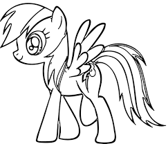 Cartoon Rainbow Dash Coloring Pages Free 5 A Printable