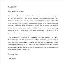 Ideas Of Cover Letter Sample Residency Marvelous Interview