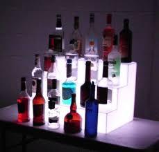Bar Bottle Display Stand Best LED Back Bar Liquor Bottle Display