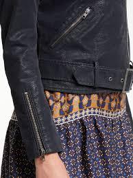 women max studio suedette biker jacket dark navy 25190601 larger image
