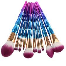 unicorn brush set. coshine 10pcs unicorn rainbow makeup brush set professional foundation powder cream blush kits - reviews