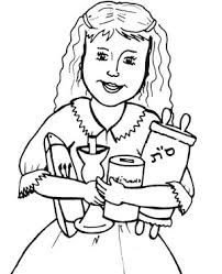 Little Girl Have a Lot of Purim Scroll Coloring Page 300x370 little girl have a lot of purim scroll coloring page free on printable scroll