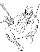 Small Picture Spiderman coloring pages pictures sheets Peter Parker