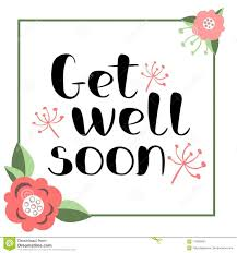 Get Well Soon Poster Get Well Soon Card Stock Vector Illustration Of Phrase