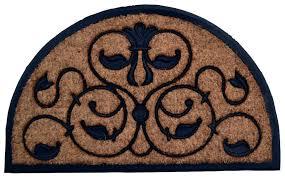 decoration door mat large half round door mats half moon regarding half circle rugs ideas half circle rug