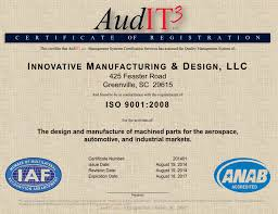innovative manufacturing design certifications certified audit3 certification