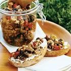 bruschetta with ammogghiu sauce   sicilian