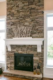 Dry Stack Rock Fireplace Interior Designing
