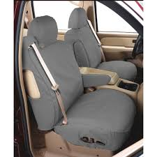 covercraft front seat cover seatsaver gray pair for bucket seats chevrolet silverado gmc sierra 2017