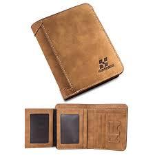 vintage designer men wallet bifold matte leather wallets mens small trifold purse card holder money bag business brand wallet for men 1133 leather goods
