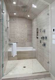 Tub in shower...no glass doors though....half wall