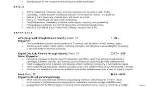 Sample Resume For Marketing Job Finance Sample Resume Marketing Objective Health With Financial 49